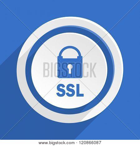 ssl blue flat design modern icon