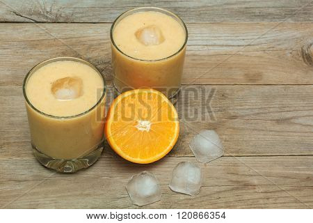 Fruit Smoothies And Ice Cubes