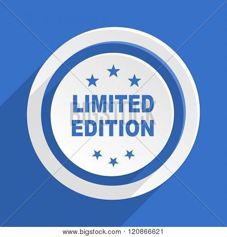 limited edition blue flat design modern icon