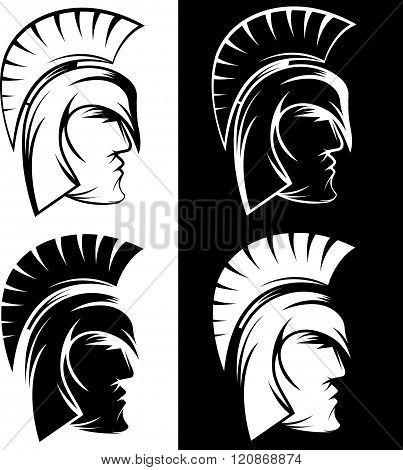Spartan Warrior Set Vector Design Template . Concept Of Graphic Clipart Work