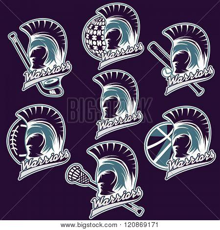 Spartan Warrior As Emblem Of Sports Teams