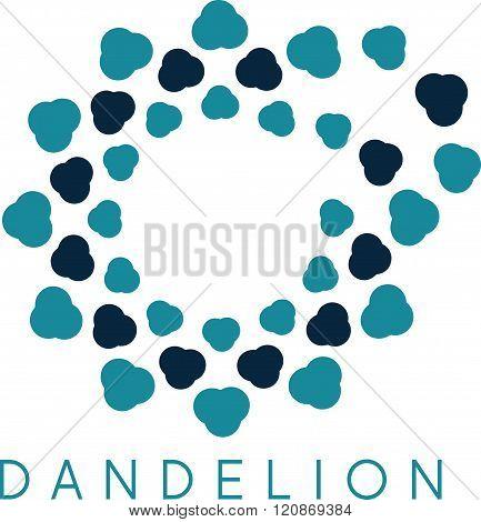 Illustration Of Concept Cloud Dandelion. Vector Logo