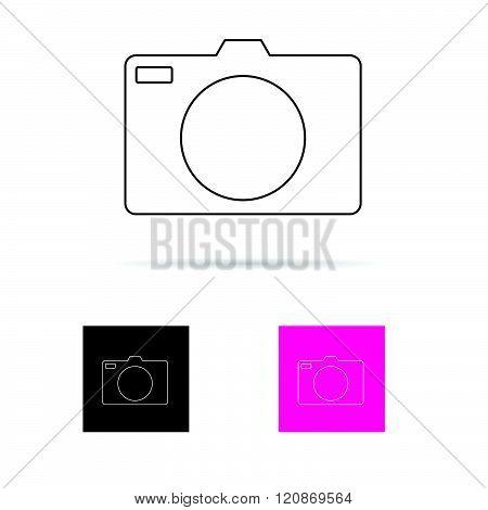 Camera Set Icon Illustration