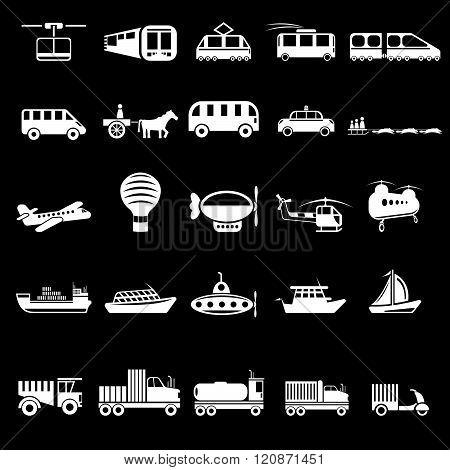Twenty Five Vector Icons Of Transport Theme