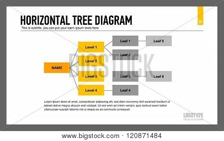 Horizontal Tree Diagram Template