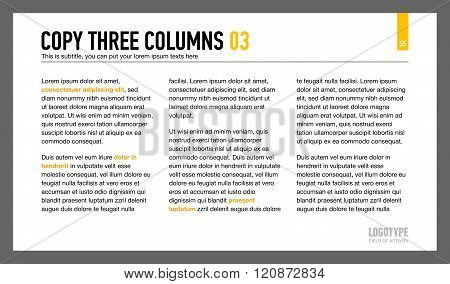 Three Columns Text Slide
