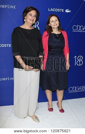LOS ANGELES - FEB 23: Beryl Lacoste Hamilton, Joelle Grunberg at the 18th Costume Designers Guild Awards at the Beverly Hilton Hotel on February 23, 2016 in Beverly Hills, California