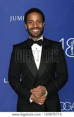 LOS ANGELES - FEB 23: Andre Holland at the 18th Costume Designers Guild Awards at the Beverly Hilton Hotel on February 23, 2016 in Beverly Hills, California