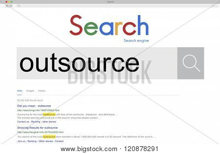 Outsource Task Contract Work Supplier Concept