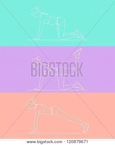 Female Exercising Silhouette