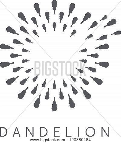 Illustration Of Concept Dandelion. Vector Logo . Concept Of Graphic Clipart Work