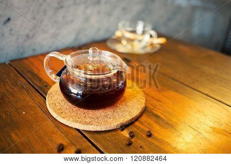 hot Tea In Teapot