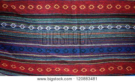 Colorful indigo cloth textile for textured background