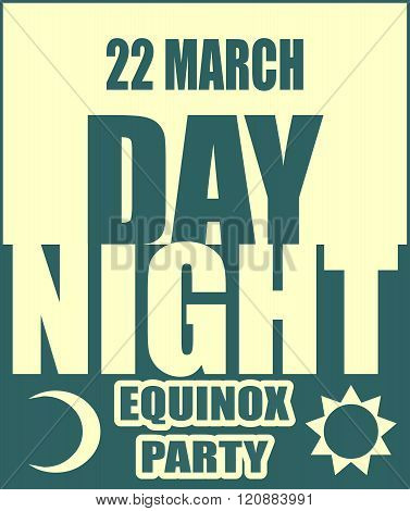 Spring equinox day party banner