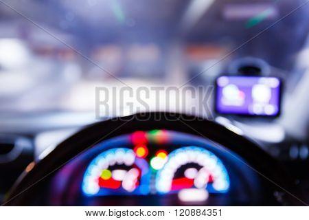 Blurred Traffic Light