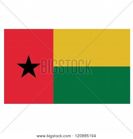 A flag of of Guinea-Bissau