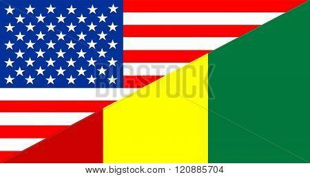 usa america guinea half country language flag