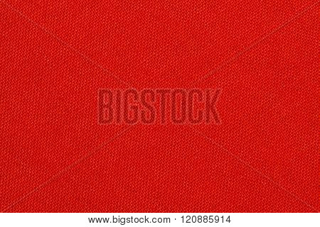 Bright red textile texture. Red background.
