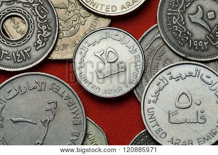 Coins of the United Arab Emirates. UAE 25 fils coin.