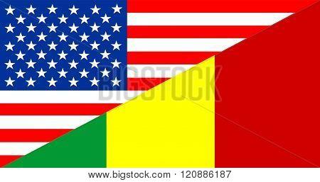 usa america mali half country language flag