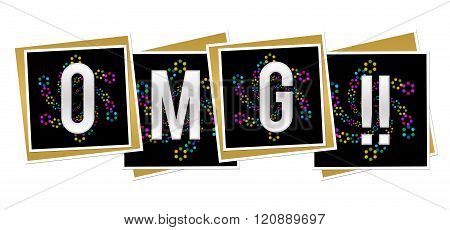 OMG Black Neon Element Squares