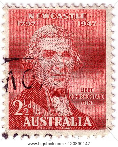 Australia - Circa 1947: A Stamp Printed In Australia Issued For The 150Th Anniversary Of City Of New