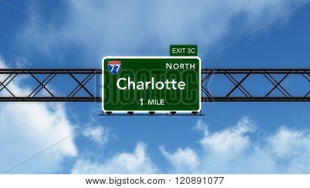 Charlotte Usa Interstate Highway Sign