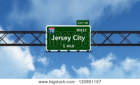 Jersey City Usa Interstate Highway Sign