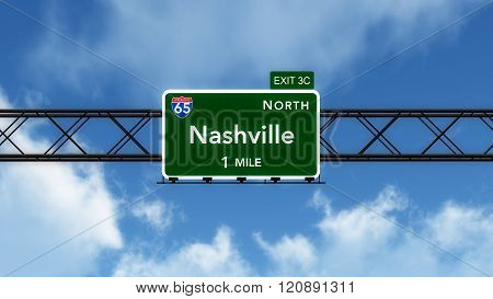 Nashville Usa Interstate Highway Sign