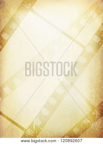 Old Filmstrip Abstract Background. Vector Template