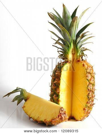 Pineapple studio isolated on white background