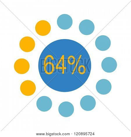 Circle chart vector. Vector circle chart infographic.Template for diagram,graph,presentation and circle chart.Business concept with options,parts,steps or processes. Abstract circle chart background.