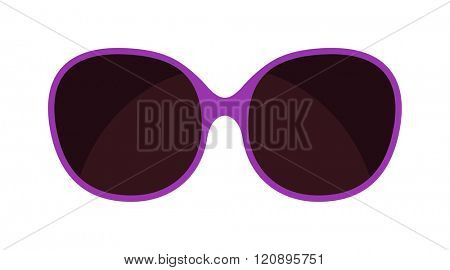 Vector fashion glasses isolated on white. Fashion glasses. Hipster fashion glasses. Summer  fashion glasses vector illustration. Sunglasses isolated vector illustration