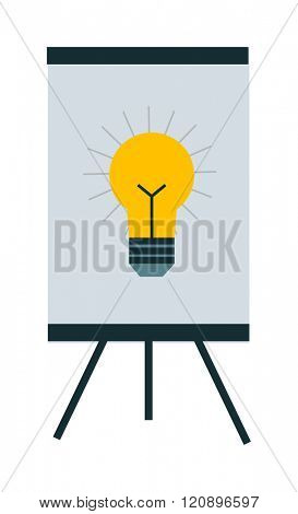 Idea concept vector illustration. Idea concept isolated on white background. Idea concept vector icon illustration. Idea concept isolated vector. Idea concept silhouette