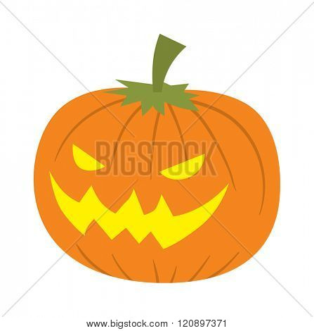 Pumpkin head vector illustration. Pumpkin head isolated on white background. Pumpkin head vector icon illustration. Pumpkin head isolated vector. Pumpkin head silhouette