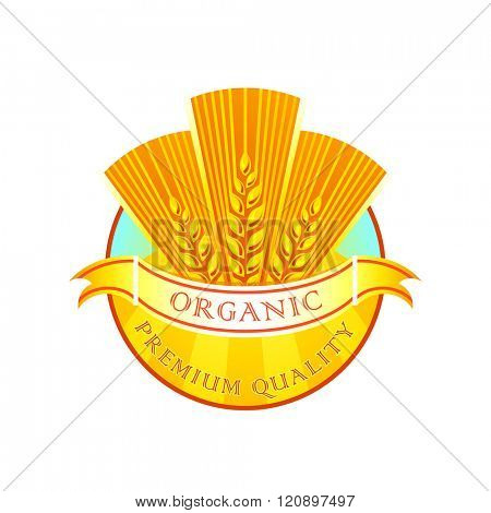 Premium quality organic wheat flour label
