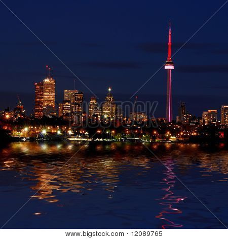 Night shot of Downtown - Toronto - Ontario - Canada