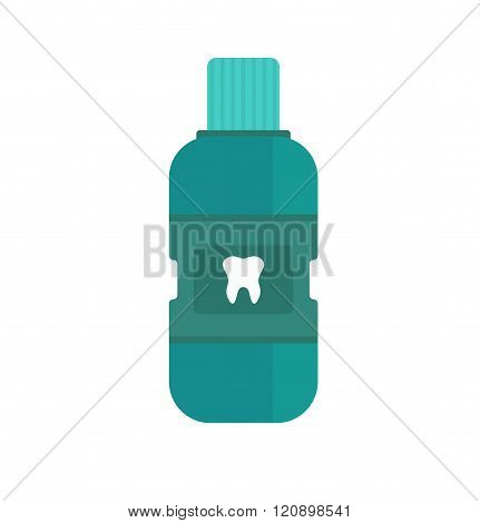 Fresh breath bottle of mouthwash vector.