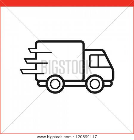 Package delivery truck icon.