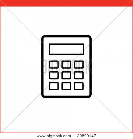 Calculator vector icon. Vector illustration