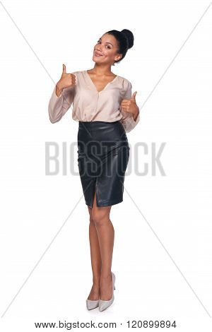Confident successful business woman