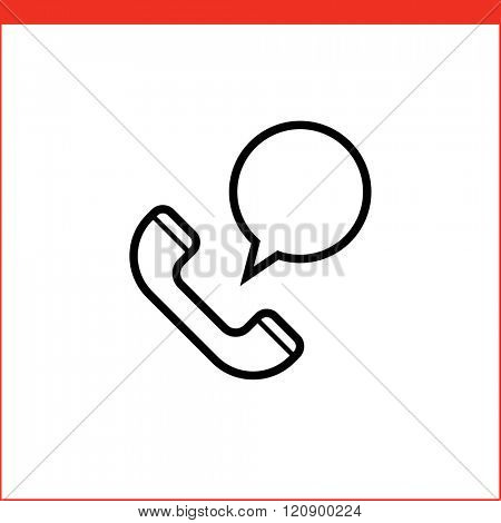 Support service icon for logistic company