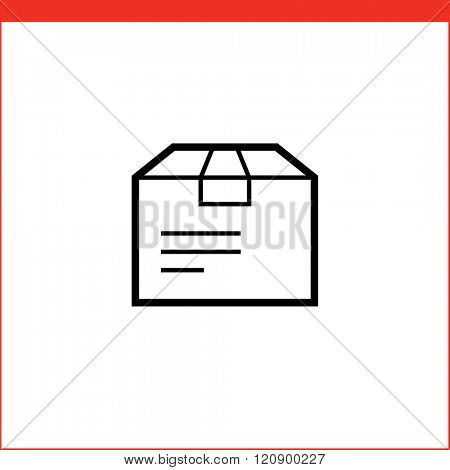 Parcel package box icon. Vector icon for logistic company