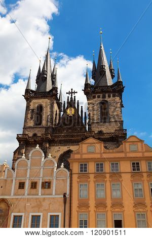 Tyn Church In Old Town Square Prague