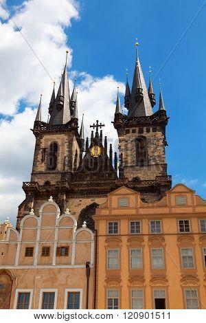 Tyn Church In Old Town Square Prague