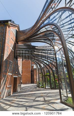 Laverstoke Mill, England - May 2015: Photo Captured Of The Bombay Sapphire Distillery, The Re-develo