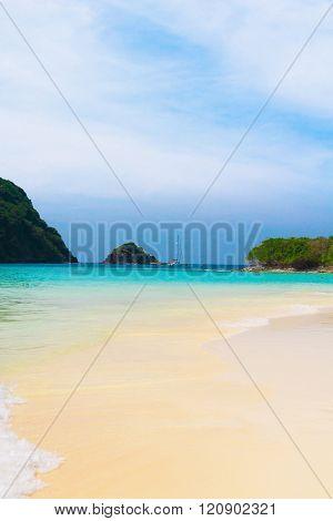 On a Sunny Beach Lagoon Seascape