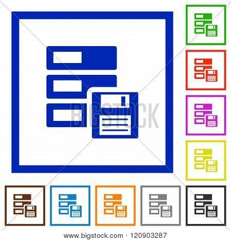 Backup Framed Flat Icons