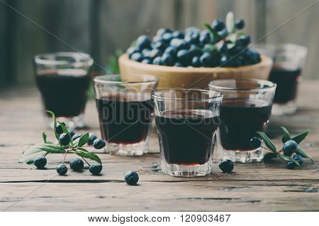 Traditional Sardinian Liqueur With Mirto