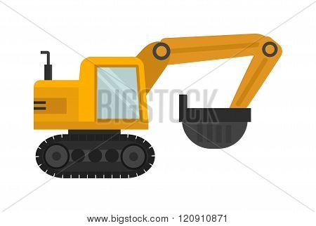 Vector excavator illustration